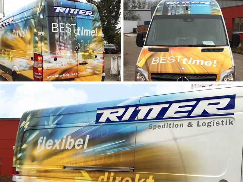 Fahrzeugbeschriftung für Ritter